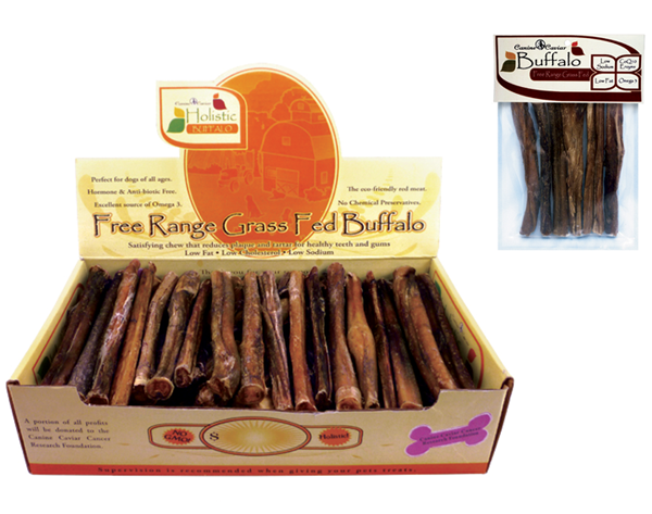 Canine Caviar Buffalo Bully Sticks for Dogs long lasting dog chews