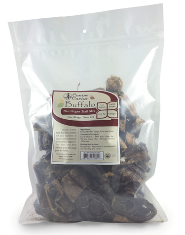 Canine Caviar Buffalo Organ Trail Mix - long lasting dog treats