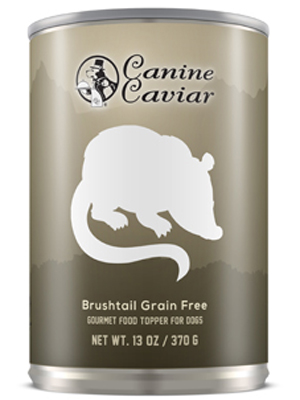 Canine Caviar 97% Brushtail Grain Free Canned Dog Food - best wet dog food and best canned dog food
