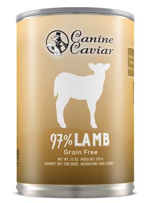 Canine Caviar 97% Lamb Grain Free Canned Dog Food - Canine Caviar Pet Foods Inc.